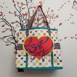 BRIGHTON Love & Joy Canvas Tote Art to Wear